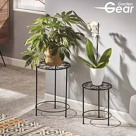 Garden Gear Flower Stand – 2 Pack Black